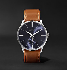 Junghans Meister Handaufzug 38mm Stainless Steel and Leather Watch