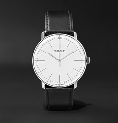 Junghans - Max Bill Automatic 38mm Stainless Steel and Leather Watch