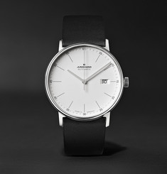 Junghans Form A 40mm Automatic Stainless Steel and Leather Watch, Ref. No. 027/4730.00
