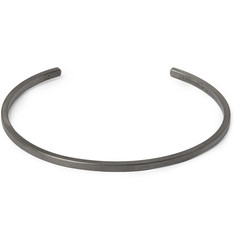 Le Gramme Le 7 Brushed Ruthenium-Plated Sterling Silver Cuff
