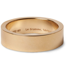 Le Gramme 13g 7mm Slick-Brushed 18-Karat Gold Ring