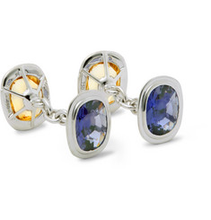 Trianon - 18-Karat White Gold, Citrine and Lolite Cufflinks