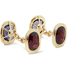 Trianon - 18-Karat Gold, Garnet and Lolite Cufflinks