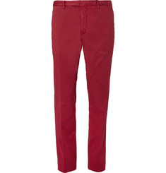 Boglioli Slim-Fit Garment-Dyed Stretch-Cotton Twill Trousers
