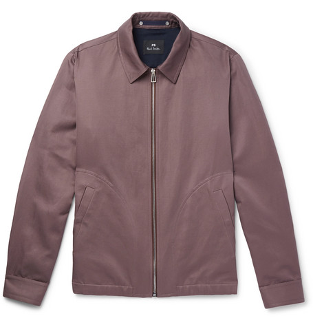 Cotton And Linen Blend Blouson Jacket by Ps By Paul Smith