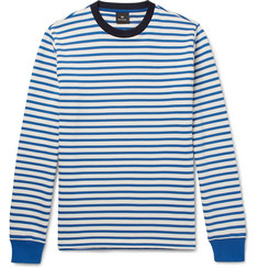 PS by Paul Smith Striped Loopback Cotton-Jersey Sweatshirt