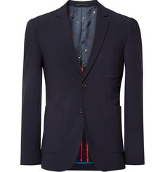 PS by Paul Smith Midnight-Blue Slim-Fit Wool Blazer