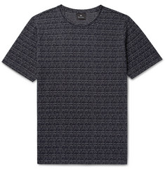 PS by Paul Smith Broken Stripe Cotton-Jacquard T-Shirt