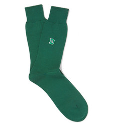 Anonymous Ism - Dartmouth University Embroidered Stretch-Knit Socks