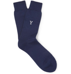 Anonymous Ism - Yale University Embroidered Cotton Socks