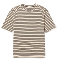Camoshita Slim-Fit Striped Ribbed Cotton Sweater