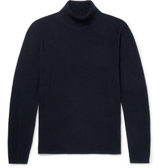 Cotton Blend Piqué Rollneck Sweater by Folk