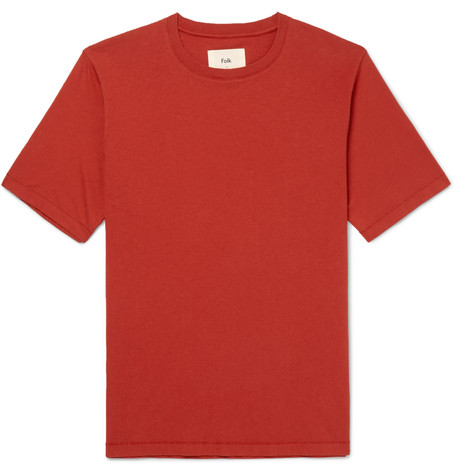 Washed Cotton Jersey T Shirt by Folk