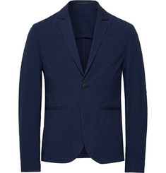 Folk Navy Counter Unstructured Stretch-Cotton Suit Jacket