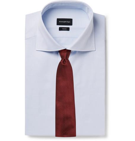 Light-blue Pin-dot Cotton-poplin Shirt - Light blueErmenegildo Zegna Sortie 2018 réductions Ebay En Ligne xCZSUKpd