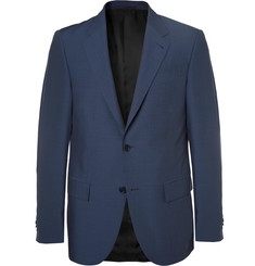 Ermenegildo Zegna Navy Milano Slim-Fit Wool and Silk-Blend Suit