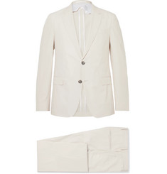 Hugo Boss Cream Nylen Perry Slim-Fit Cotton Suit