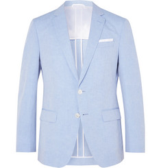 Hugo Boss Light-Blue Hartlay Slim-Fit Slub Linen and Cotton-Blend Suit Jacket