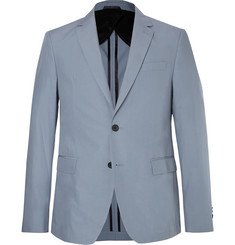 Hugo Boss Light-Blue Nobis Slim-Fit Cotton-Poplin Suit Jacket