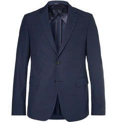 Hugo Boss Navy Nobis Slim-Fit Cotton-Poplin Suit Jacket