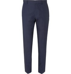 Hugo Boss Navy Genesis Slim-Fit Cotton-Poplin Suit Trousers
