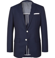Hugo Boss Navy Hartlay Slim-Fit Wool Blazer