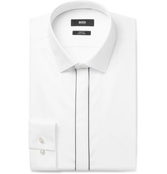 Hugo Boss - Jamir White Slim-Fit Cotton-Poplin Shirt
