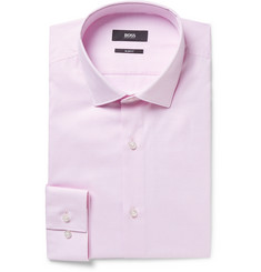 Hugo Boss - Light-Pink Ismo Slim-Fit Cotton-Jacquard Shirt