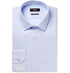 Hugo Boss - Blue Gelson Striped Cotton Shirt