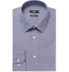 Hugo Boss Enzo Gingham Cotton-Poplin Shirt