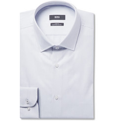 Hugo Boss - Jessie Slim-Fit Pin-Dot Cotton-Poplin Shirt
