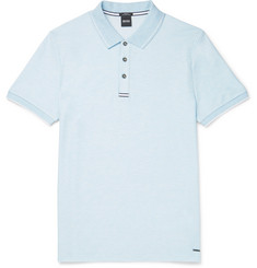 Hugo Boss Philipson Slim-Fit Mélange Jersey Polo Shirt