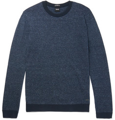 Hugo Boss Devis Mélange Cotton and Linen-Blend Sweater