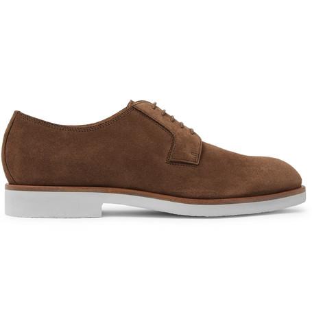 990cadbacab Hugo Boss Eden Suede Derby Shoes - Tan