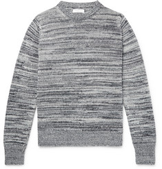 Richard James Mélange Linen and Cotton-Blend Sweater