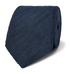Richard James 7.5cm Herringbone Slub-Silk Tie