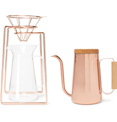 Toast Living H.A.N.D Copper-Tone Coffee Set