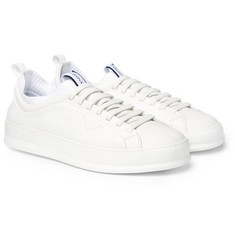Z Zegna - Imperia Leather Slip-On Sneakers