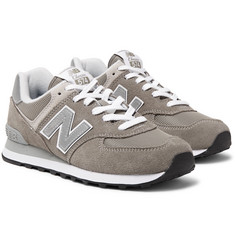 New Balance - 574 Suede and Mesh Sneakers