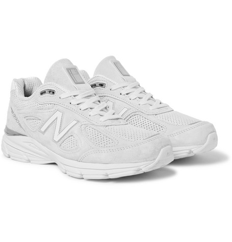 New Balance 990 Suede Sneakers In White