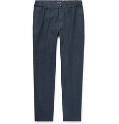 Club Monaco - Lex Slim-Fit Tapered Linen-Blend Trousers