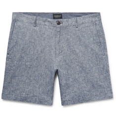 Club Monaco Baxter Slim-Fit Stretch Linen and Cotton-Blend Shorts
