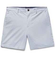 Club Monaco Baxter Slim-Fit Striped Stretch-Cotton Seersucker Shorts