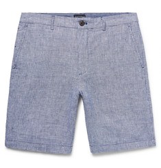 Club Monaco Maddox Slim-Fit Houndstooth Slub Linen Shorts