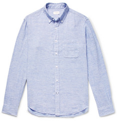Club Monaco Button-Down Collar Slub Linen Shirt