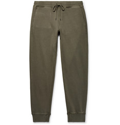 Club Monaco Slim-Fit Tapered Raw-Edged Loopback Cotton-Jersey Sweatpants