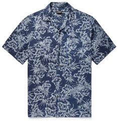 Club Monaco Slim-Fit Camp-Collar Printed Linen Shirt