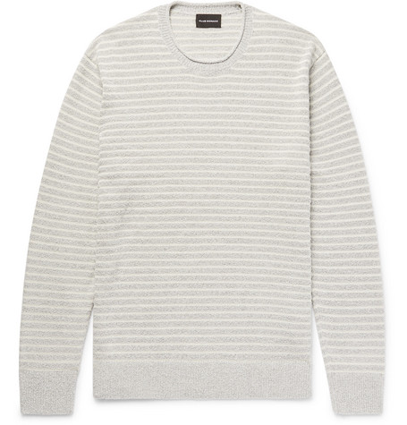 Factory Price Striped Cotton-blend Bouclé Sweater Club Monaco Buy Cheap Nicekicks Clearance Online Fake Clearance Online Get To Buy Cheap Price bbVSdU