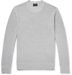 Club Monaco Slim-Fit Textured Linen and Cotton-Blend Sweater