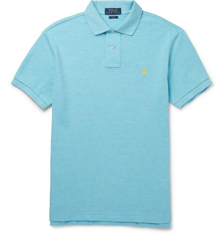 Slim-fit Cotton-piqué Polo Shirt - Turquoise
